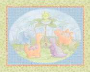Cute A Saurus 100% cotton fabric