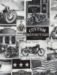 Era - Bikes, Autos 100% cotton fabric Collection