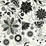 Ink Blossom 100% cotton fabric Collection