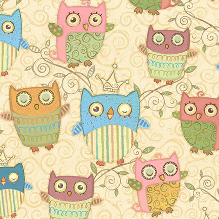 Nighty Night Owl 100% cotton fabric Collection