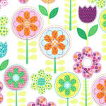 Small World 100% cotton fabric
