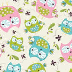 Whoo's Cute 100% cotton flannel fabric Collection